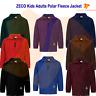 Kids Polar Fleece Jacket Unisex Full Zip Anti-Pill Fabric School Outdoor Uniform