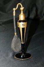 "DeVILBISS Black and Gold Vintage Art Deco ATOMIZER PERFUME 1920""s"