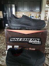 Skechers mens work shoes steel toe Size 11 Black
