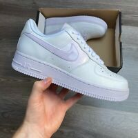 NIKE AIR FORCE 1 '07 AF1 WOMENS TRAINERS WHITE BARELY GRAPE UK9 US11.5 EUR44