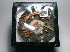 Resin Miniature Christmas Tea Set 9 Pieces with Santa Claus & Wreath Decor