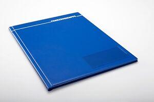 5x Fahrzeugmappe A4 blau Bordbuch Fahrermappe Dokumentenmappe Organizer KFZ Auto