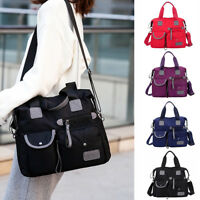 Women Waterproof Nylon Shoulder Messenger Capacity Backpack Pocket Crossbody Bag