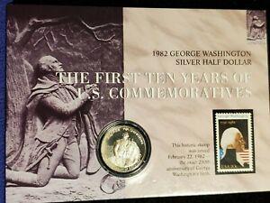 1982-S USA GEORGE WASHINGTON COMMEMORATIVE PROOF SILVER HALF DOLLAR