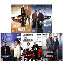 LIFE ON MARS AND ASHES TO ASHES COMPLETE SERIES 1 2 3  UK REGION 2 DVD