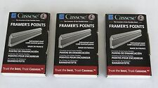 FRAMER'S POINTS, CASSESE, 3 BOXES, GAL. PICTURE FRAMERS POINTS