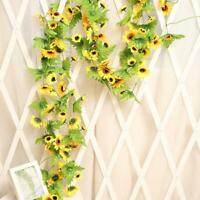 Artificial Yellow Sunflower Garland Flower Vine Wedding Floral Arch Decor Best