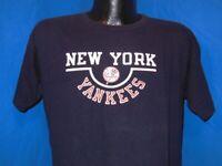 vintage 80s NEW YORK YANKEES NY OLD CHAMPION BLUE COTTON MLB t-shirt LARGE L