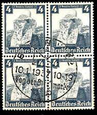 1935 Nazi Germany Women Traditional Costumes Silesia Aryan Type Block of 4Stamps