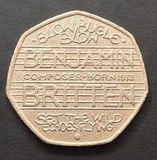 50p Coin 2013 Benjamin Britten Composer Blow Bugle Blow FREEPOST