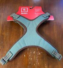 "REDDY dog Harness Size MEDIUM Adjustable GREEN/leather/metal buckle ""BRAND NEW"""