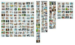 Viele Fotohalter Fotowand Bildervorhang Foto Karten Bilder Collage Kunststoff