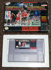 Tecmo Super NBA Basketball Snes Super Nintendo NTSC US Boxed with Instructions