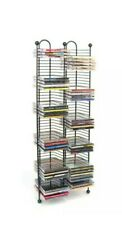 100 CD Tower Storage Media Rack Shelf Stand Organizer Multimedia Holder - NEW