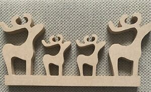 MDF Reindeer Family X4 Figures