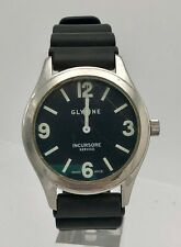 Victorinox 241474 Mens Swiss Army Stainless Steel Black Leather Band 40mm Watch