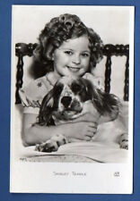 MOVIE STAR SHIRLEY TEMPLE AND DOG # 1007 VINTAGE PHOTO POSTCARD 292