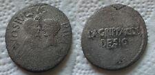 The Triumvirs. Octavian, Divus Julius Caesar, and Agrippa. 38 BC.AR Denarius
