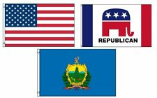 3x5 American & Republican & State of Vermont Wholesale Set Flag 3'x5'
