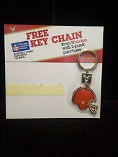 Vintage 1988 Winston Cigarettes Cleveland Browns NFL Keychain Promo NOS