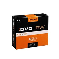 Intenso DVD+RW 4.7GB 120min 4x Speed Blank Disks with Slim Cases