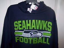 Seattle Seahawks Blue Hooded  Sweatshirt Hoody Mens XL New w/ Tags FREE SHIPPING