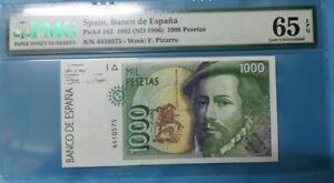 1992 SPAIN 1000 PESETAS PMG65 EPQ GEM UNC <P-163>