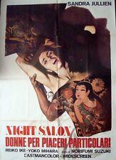 INSATIABLE Italian 2F poster SANDRA JULIEN REIKO IKE SEXPLOITATION TATTOO SAMURA