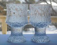 2 Iittala Finland Ultima Thule Footed 3 oz Cordial Glasses Vodka - Schnapps -