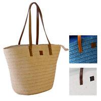 Korbtasche Strandtasche Ibizatasche Tasche Umhängetasche Freibadtasche Einkaufen