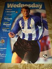 Sheffield Wednesday v Wrexham, 2003-04