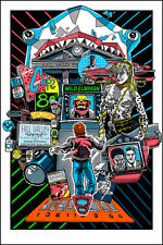 BACK TO THE FUTURE 2 2015 GLOW IN THE DARK SCREEN PRINT TIM DOYLE NAKATOMI