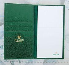 ROLEX porta appunti block notes in pelle verde ORIGINALE NUOVO