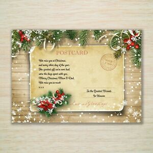 Husband Wife Christmas Memorial Grave Card Brother Sister *Eco Weatherproof* A5