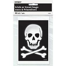 50 x HALLOWEEN Skull & Crossbones Loot bags Treat Bags Party bags trick or treat