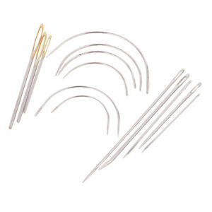 14pcs Upholstery Repair Hand Needles Kit for Leather Demin Canvas Carpet