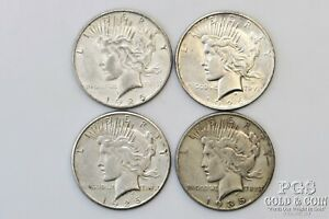 1925-S 1926-D 1926-S 1935-S Peace $1 Silver Dollars Better Dates 4 Coins 22123