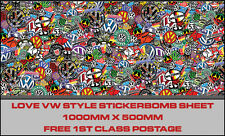Volkswagen VW sticker bomb Vinyle Graphique Stickerbomb TRANSPORTER T4 T5 decal