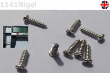 12mm x M3 Stainless Steel Round Head Screws High Strength Self-Tapping -