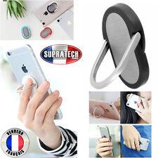 Mini Support Universel Tous Smartphones Magnétique 360 Ring Noir Anneau Doigt