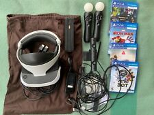 Playstation VR Bundle 2 Motion controllers with Ps4 Motion Cam Complete 3x games
