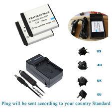 2X Battery +Charger for Hitachi DZ-HV584E, PB-360T, SB-360 - Li-Ion 720mAh 3.7V