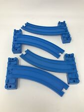 Tomy Thomas the Train Lot 4 Pieces Blue Sloped Curve Bridge Track A B Ramp Riser