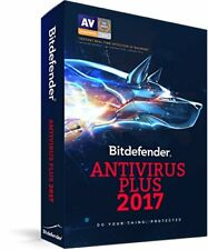Bitdefender Anti-Virus Plus 2017 3 PCs 1 Year, Brand New, Free 2018 Upgrade