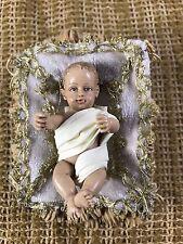 Kirkland Costco Collectible Christmas Nativity Baby Jesus Manger Figurine Doll