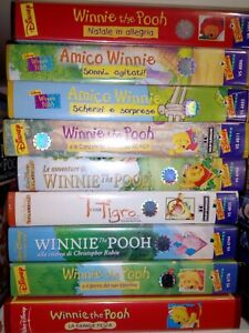 collezione vhs Disney winnie the Pooh videocassette Disney winny poh