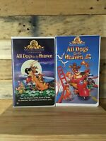 All Dogs Go To Heaven And All Dog Go To Heaven 2 VHS EUC