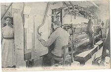 CAUDRY (59) usine tissage métier à broder gros plan