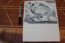 Gun Ho - Vintage Bud Browne 1963 Color Surf Movie Surfing Original Lithograph Ad