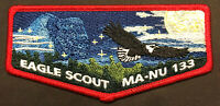 BSA OA MA-NU LODGE 133 LAST FRONTIER COUNCIL PATCH EAGLE SCOUT HONOR FLAP TOUGH!